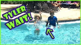 TYLER GETS HIS BRACE WET! | We Are The Davises