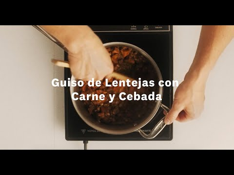 Thumbnail to launch Beef & Barley Lentil Stew Spanish video