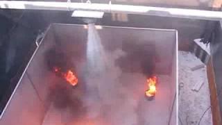 видео порошковое пожаротушение