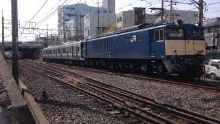 【ラスト】E131系R12編成新津配給 EF64 1031+E131 R12