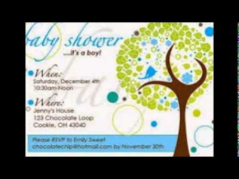 Sample Baby Shower Invitations   YouTube