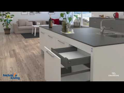Inclusive Living Australia-Kitchen Island Adjustable Lift-ELECTRIC-Centrelift 6490 Granberg Sweden