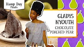 Chocolate Poached Pear | Hump Day Meals - Gladys Nyouth