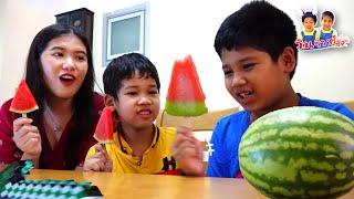 มายากล แตงโมกลายเป็นไอติมแตงโม 3 พลังวิเศษ ผ่าแตงโมด้วยดาบมายคราฟ - วินริวสไมล์