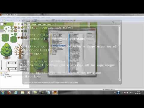 rpg maker xp importar tilesets y charas tutorial 4 |