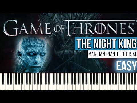 How To Play: Game Of Thrones - The Night King | Piano Tutorial EASY + Sheets thumbnail