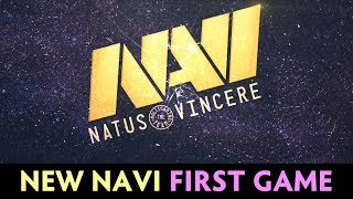 NEW NaVi roster FIRST GAME vs team SingSing + Gorgc — party Ranked