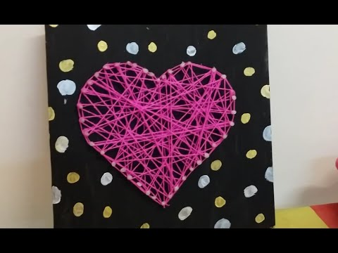 DIY String Art (Without Nails)-----Room Decorations