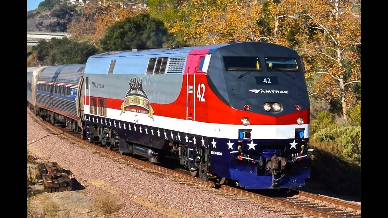 Amtrak 42 Veterans Unit - Los Angeles - YouTube