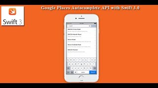 Google Places Autocomplete API with Swift 3.0
