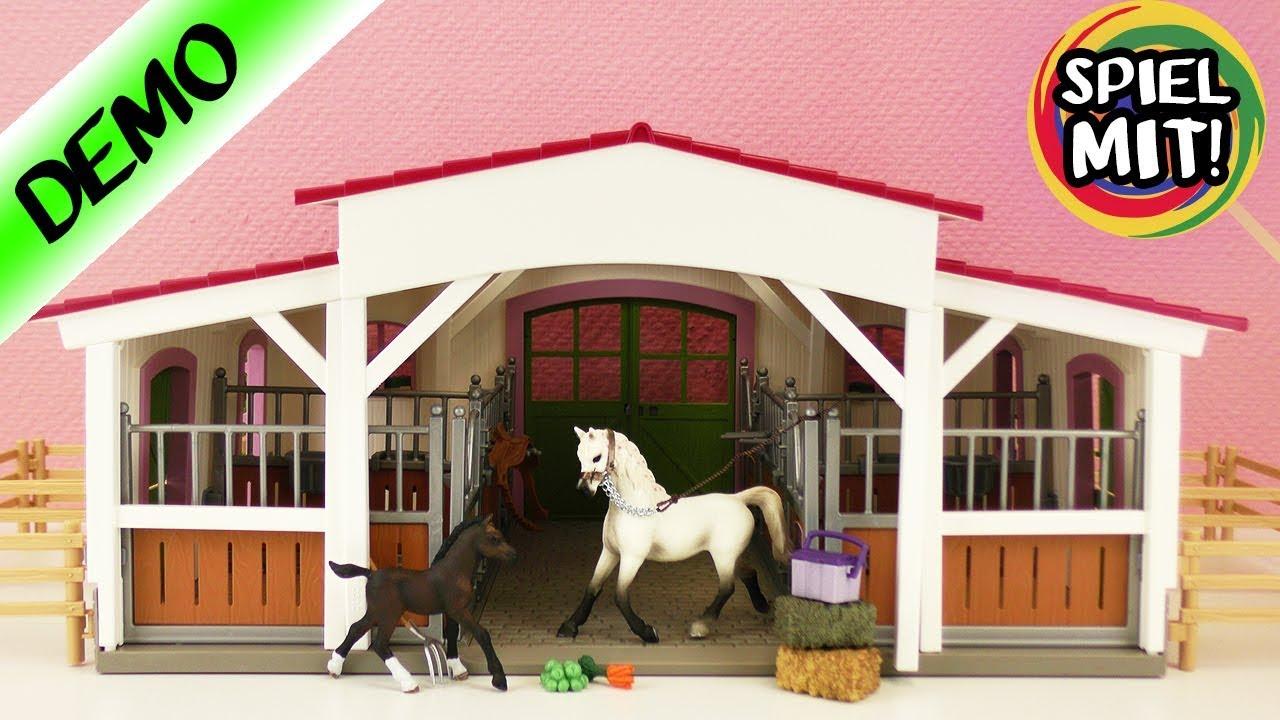 Schleich Horse Club Reiterhof mit Reiterin und Pferden Pferdestall Stall 42344