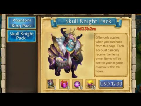 Skull Knight For Sale Soon To COME + Way More Heroes Castle Clash