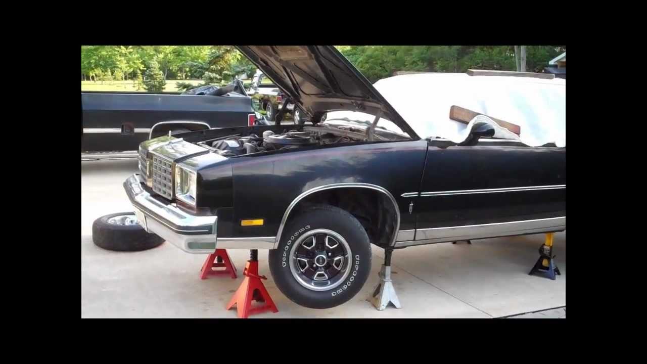 1979 cutlass calais back up on jack stands classic g body for Max garage calais