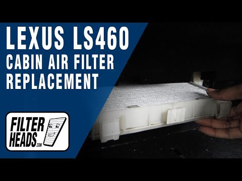 How to Replace Cabin Air Filter Lexus LS460