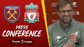 Jürgen Klopp's pre-West Ham press conference