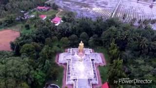 DJI Phantom 3 Standard - Patung Buddha Berdiri Antara Tarikan Pelancong Di Tumpat, Kelantan