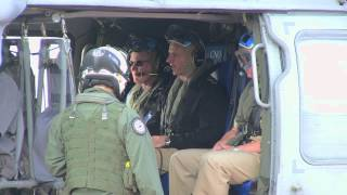Secretary of the Navy departs for RIMPAC 2012 (B-Roll)