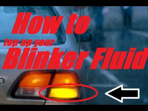How to top up on blinker fluid