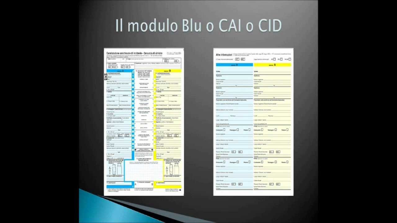 Come compilare il CID   Assicurazione.it