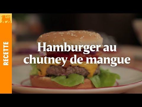 Hamburger au chutney de mangue