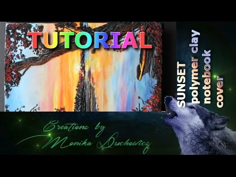 Tutorial polymer clay painting technique sunset youtube for Clay mural tutorial