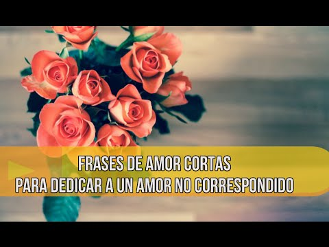 Frases De Amor Cortas Para Dedicar A Un Amor No Correspondido Youtube