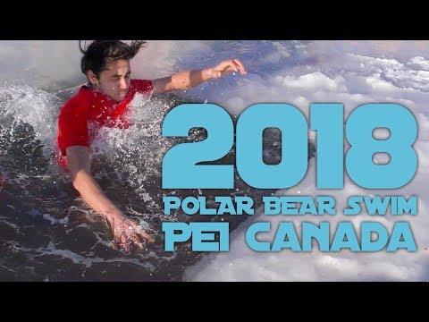 Brrrr... Polar Bear Swim 2018 Prince Edward Island CANADA