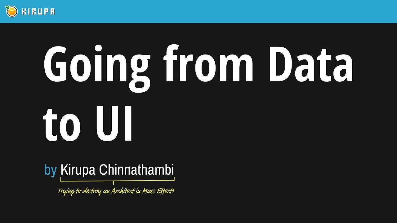 Going from Data to UI in React | kirupa com