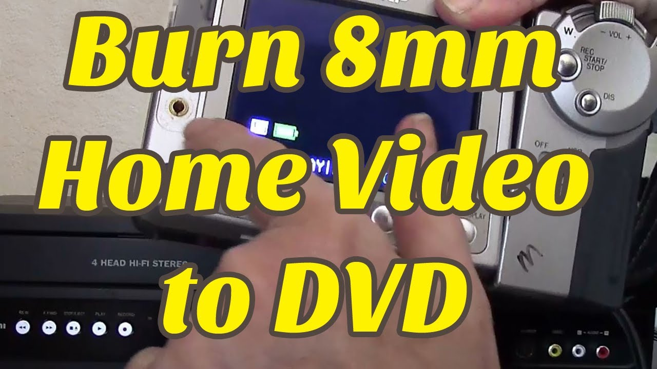 How To Convert 8mm Video To Dvd Diy Youtube