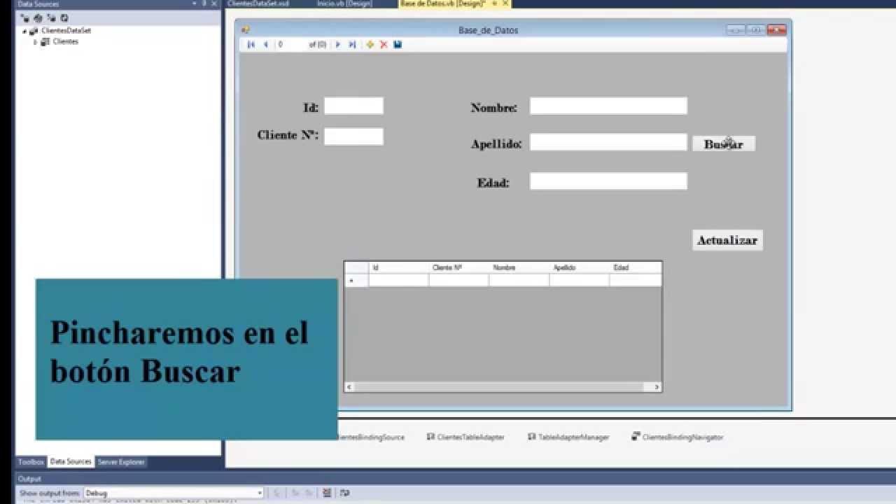 Visual Basic Formulario Base De Datos Buscar