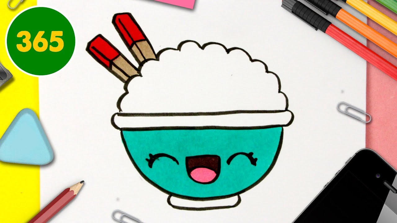 Comment Dessiner Riz Kawaii Dessins Kawaii Facile Dessiner De La Nourriture Kawaii Youtube
