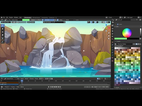 Custom Palette For  Grease Pencil Vertex Color || Blender 2.8 Beta+