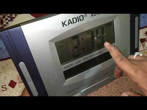 Kadio KD-3809N Digital Wall Clock Time Set And Review👍👍👍👍👍