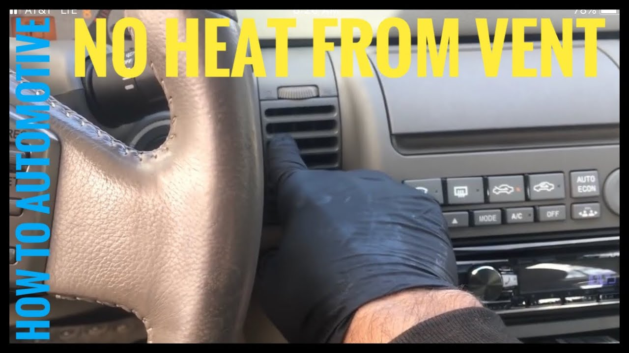 How To Fix Heater Not Blowing Hot At Idle On A 2002 2007 Infinity G35 Youtube