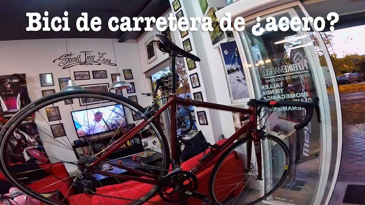 Bici de carretera de ¿acero? - YouTube