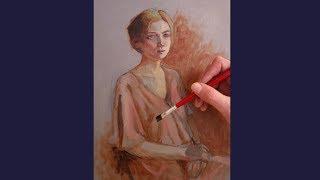 Óleo sobre tela  pintura em camadas parte 1