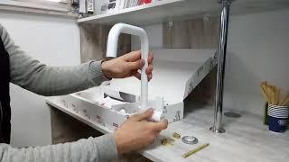 Видео обзор Кухонного смесителя Franke Elegance Белый 115.0296.804 распаковка