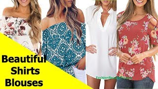 50 Beautiful Shirt and Blouse Designs For Women A4