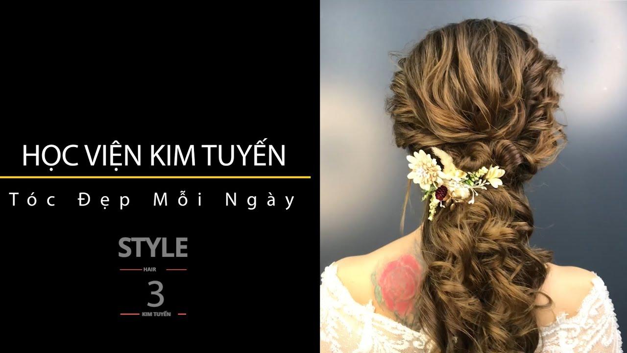 [Học viện Kim Tuyến] Hướng dẫn bới tóc cô dâu đẹp gợi cảm (5 Phút mỗi ngày) – 3