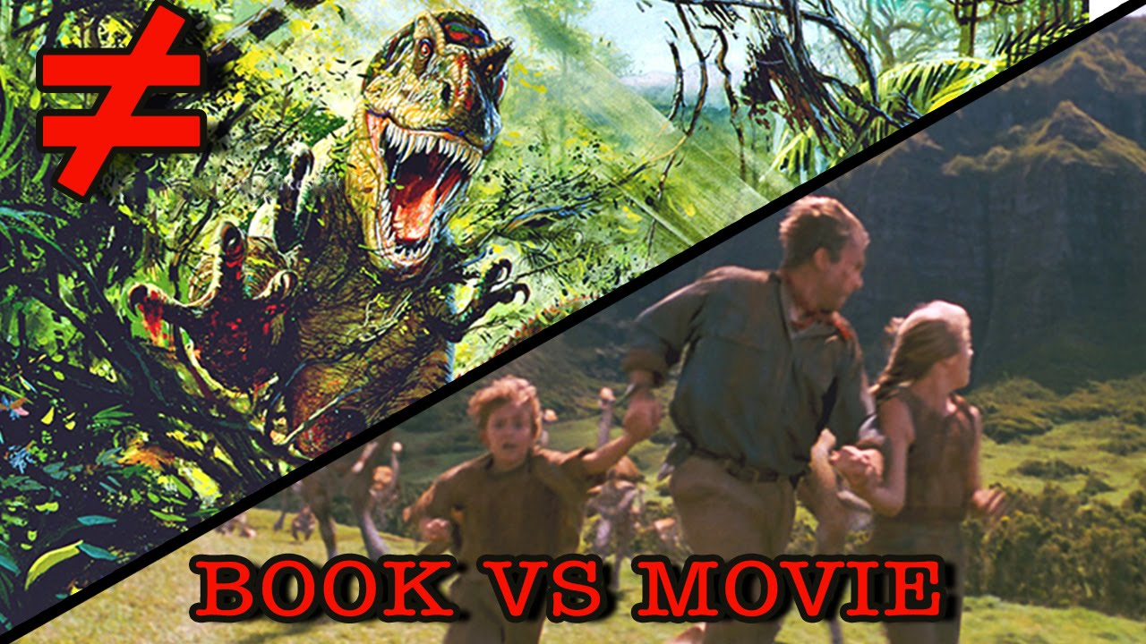 a comparison of jurassic park the movie and the book Jurassic park is a 1990 science wild raptor nests and compare hatched eggs with and predicted that the movie adaptation of the book would be.