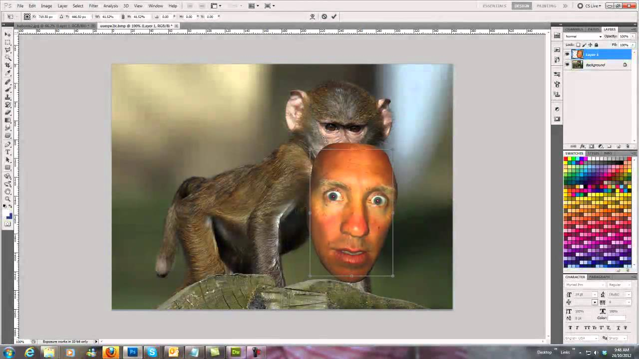 Face Swap Photoshop Tutorial - YouTube