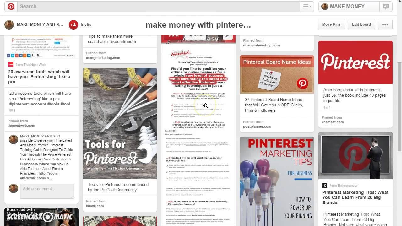 As pinterest pdf board