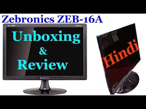 Zebronics ZEB-16A 39.6cm(15.6) LED Monitor  Unboxing & Review Hindi