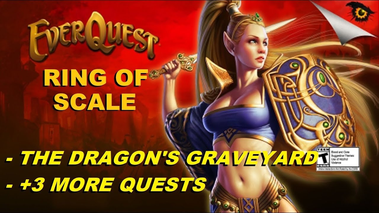 EVERQUEST RING OF SCALE - The Dragon's Graveyard + 3 more quests! (1080p)