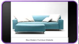 Blue Modern Furniture Website