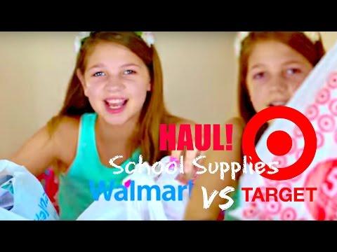 Back to School HAUL & shopping | Walmart v Target Annie & Hope JazzyGirlStuff