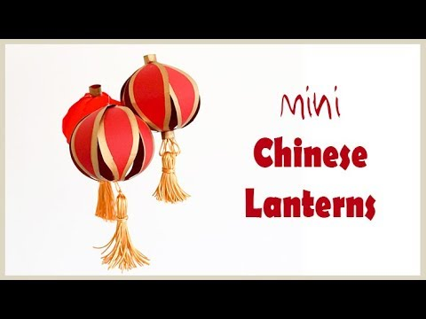 DIY Mini Chinese Lanterns | Fun Card & Paper Decorations | Easy Craft Project