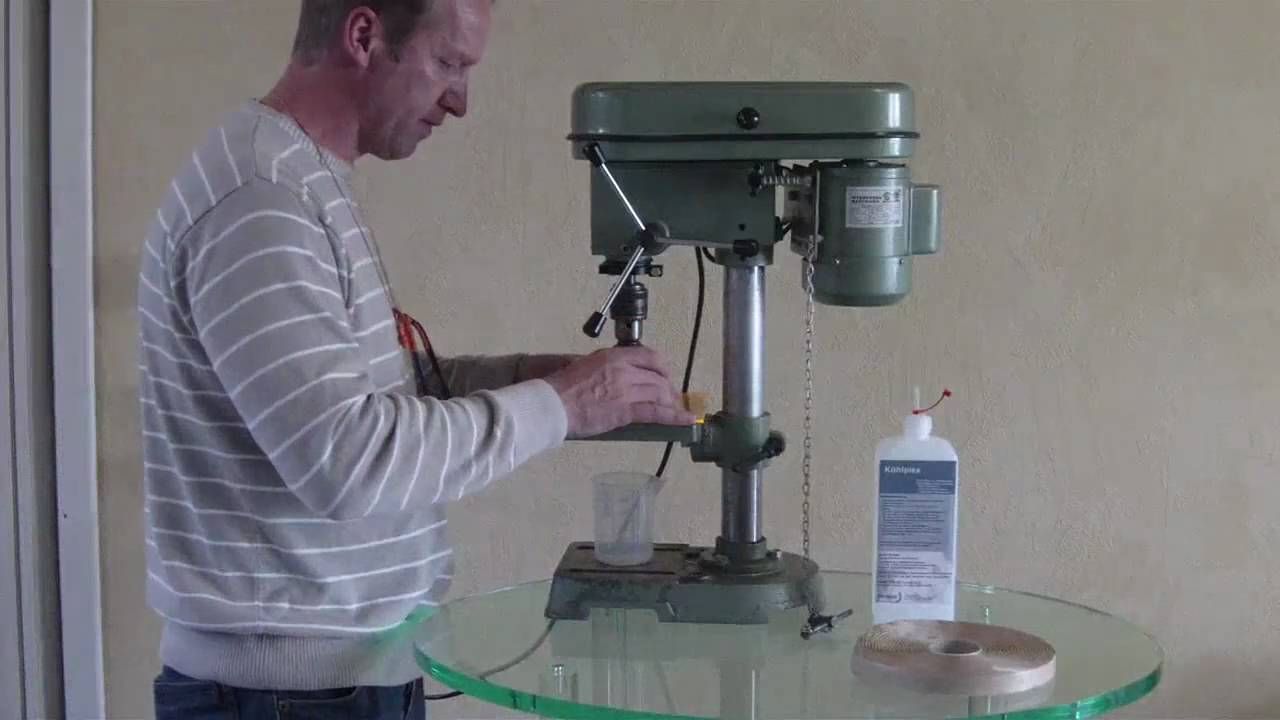 How To Drill Acrylic Round Hole With Mill Drill Rundloch