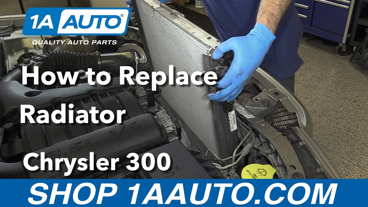 medium resolution of how to replace install radiator 2005 10 chrysler 300 buy quality parts at 1aauto com youtube