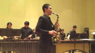 Concerto for Alto Sax and Percussion Orchestra by Russell Peterson [Wisuwat Pruksavanich Saxophone]